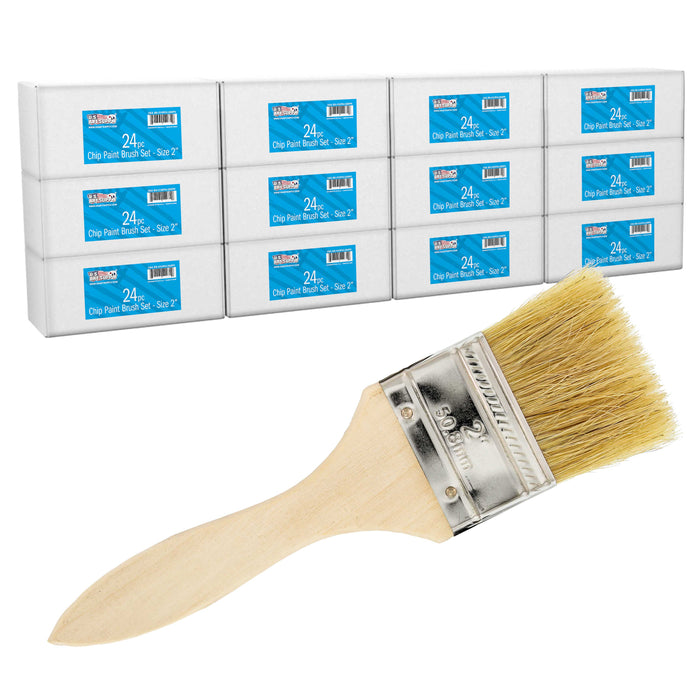 288 Pack of 2 inch Paint and Chip Paint Brushes for Paint, Stains, Varnishes, Glues, and Gesso