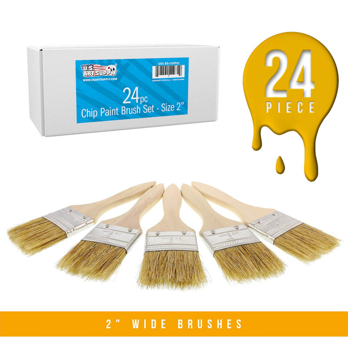 48 Pack of 2 inch Paint and Chip Paint Brushes for Paint, Stains, Varnishes, Glues, and Gesso