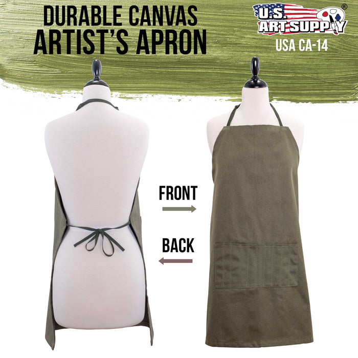 "Extra Large Canvas Adjustable Artist Apron (Size: 30"" x 25"")"
