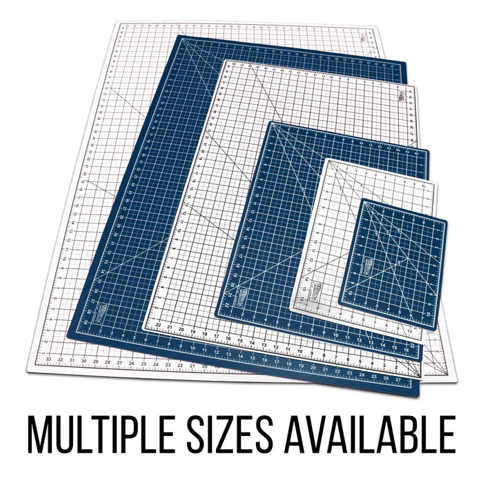 "18"" x 24"" White/Blue Professional Self Healing 5-6 Layer Double Sided Durable Non-Slip PVC Cutting Mat Great for Scrapbooking, Quilting, Sewing and All Arts & Crafts Projects"