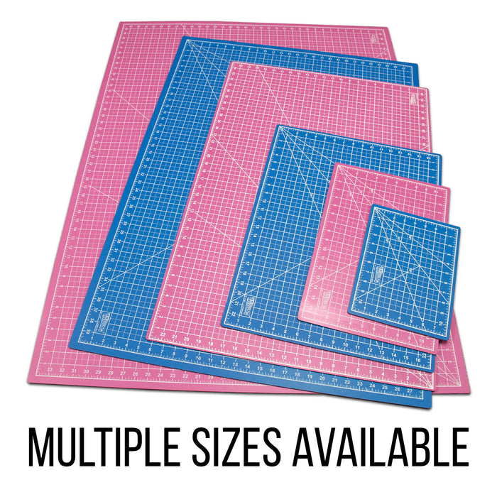 "24"" x 36"" Pink/Blue Professional Self Healing 5-Ply Double Sided Durable Non-Slip PVC Cutting Mat Great for Scrapbooking, Quilting, Sewing and All Arts & Crafts Projects"