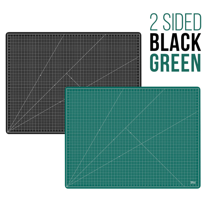 "36"" x 48"" Green/Black Professional Self Healing 5-Ply Double Sided Durable Non-Slip PVC Cutting Mat Great for Scrapbooking, Quilting, Sewing and All Arts & Crafts Projects"