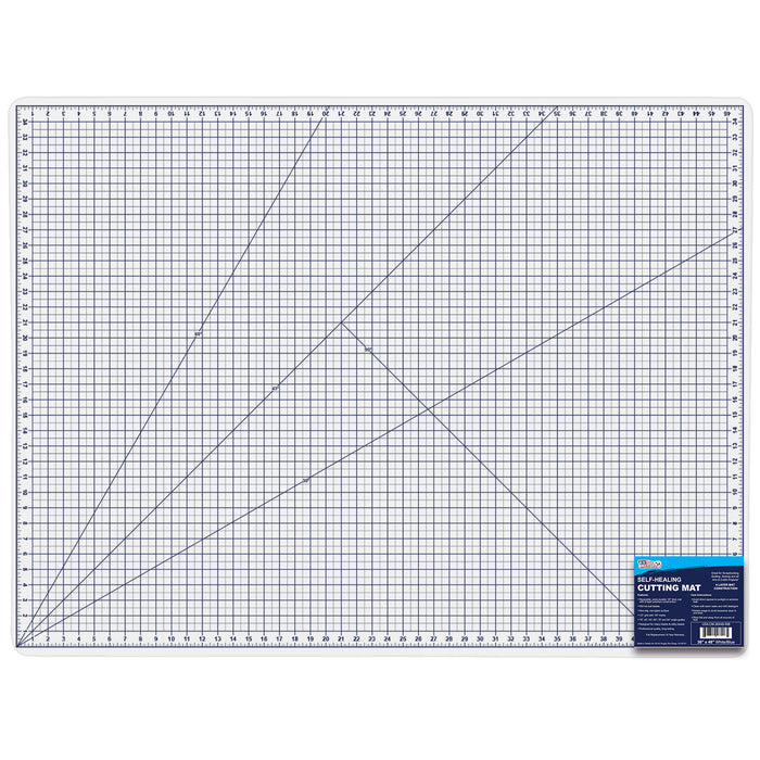 "36"" x 48"" White/Blue Professional Self Healing 5-6 Layer Double Sided Durable Non-Slip PVC Cutting Mat Great for Scrapbooking, Quilting, Sewing and All Arts & Crafts Projects"