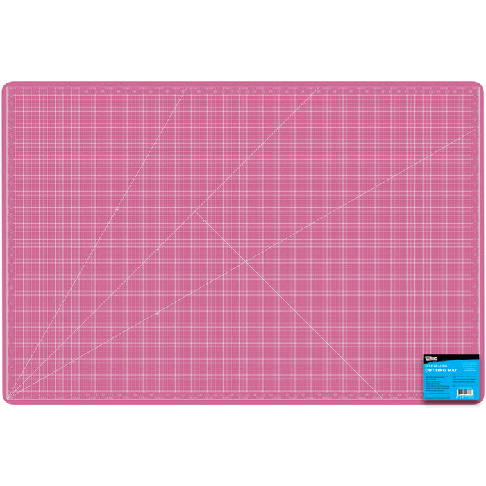 "40"" x 60"" Pink/Blue Professional Self Healing 5-Ply Double Sided Durable Non-Slip PVC Cutting Mat Great for Scrapbooking, Quilting, Sewing and All Arts & Crafts Projects"