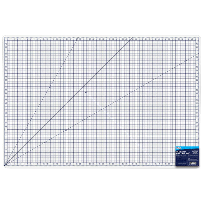 "40"" x 60"" White/Blue Professional Self Healing 5-6 Layer Double Sided Durable Non-Slip PVC Cutting Mat Great for Scrapbooking, Quilting, Sewing and All Arts & Crafts Projects"