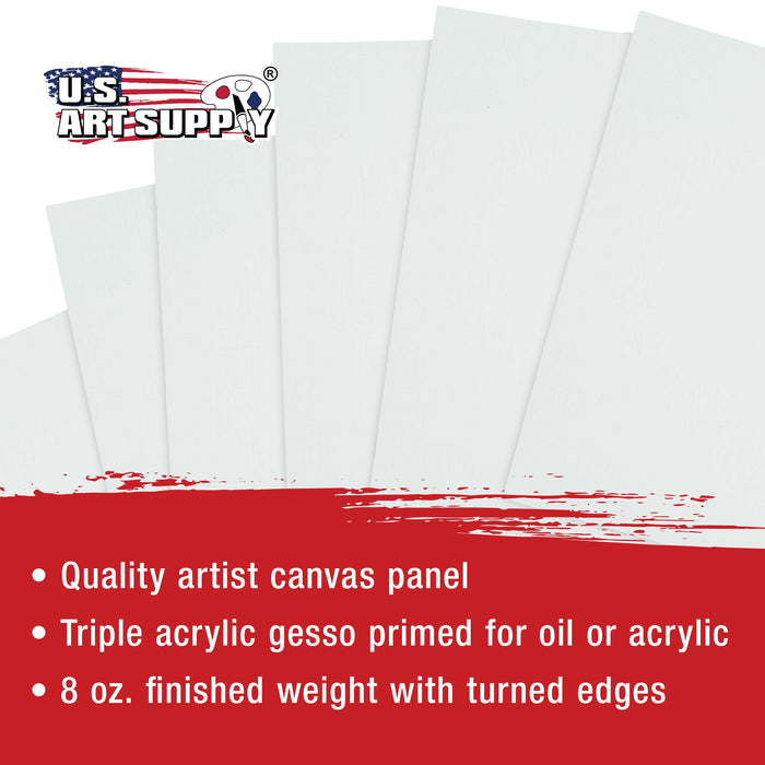 Square Variety Assortment Professional Artist Quality Acid Free Canvas Panels 12-Total Panels (2-EA: 12x12, 10x10, 8x8, 6x6, 5x5, 4x4)