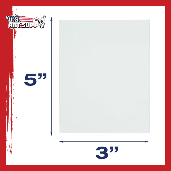 "3"" x 5"" Professional Artist Quality Acid Free Canvas Panel Boards for Painting 12-Pack"
