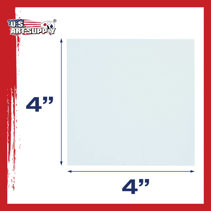 "4"" x 4"" Professional Artist Quality Acid Free Canvas Panel Boards for Painting 96-Pack"