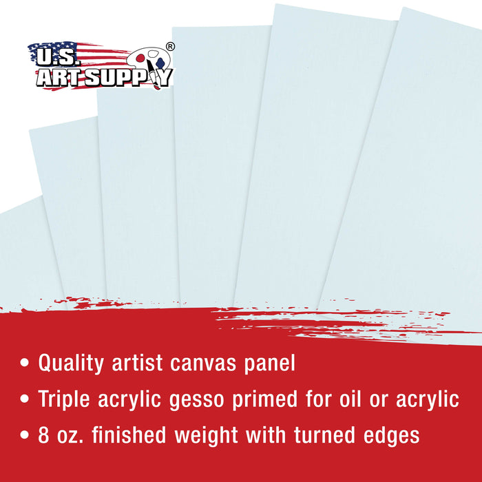 "5"" x 5"" Professional Artist Quality Acid Free Canvas Panel Boards for Painting 12-Pack"