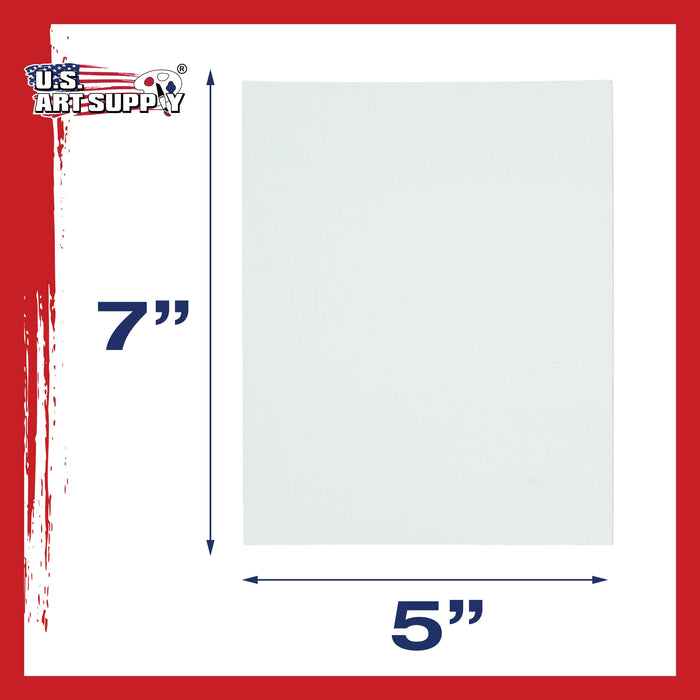 "5"" x 7"" Professional Artist Quality Acid Free Canvas Panel Boards for Painting 12-Pack"
