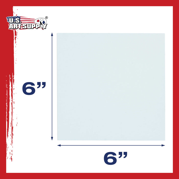 "6"" x 6"" Professional Artist Quality Acid Free Canvas Panel Boards for Painting 96-Pack"