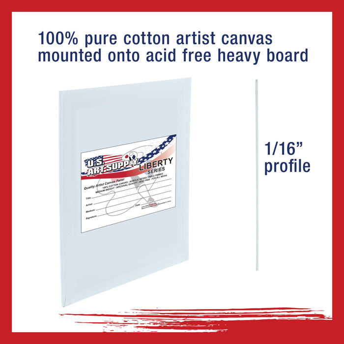 "9"" x 12"" Professional Artist Quality Acid Free Canvas Panel Boards for Painting 48-Pack"