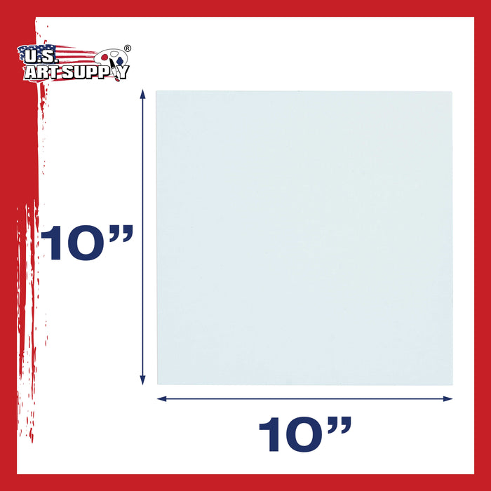 "10"" x 10"" Professional Artist Quality Acid Free Canvas Panel Boards for Painting 12-Pack"