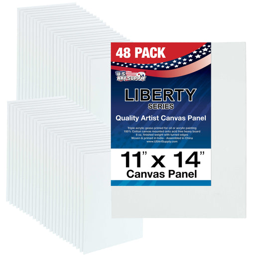 "11"" x 14"" Professional Artist Quality Acid Free Canvas Panel Boards for Painting 48-Pack"