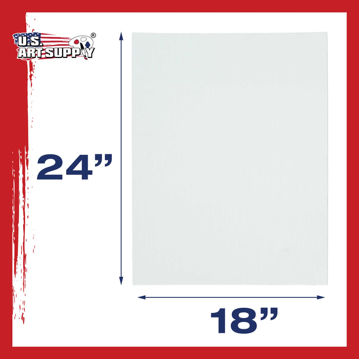 "18"" x 24"" Professional Artist Quality Acid Free Canvas Panel Boards for Painting 12-Pack"