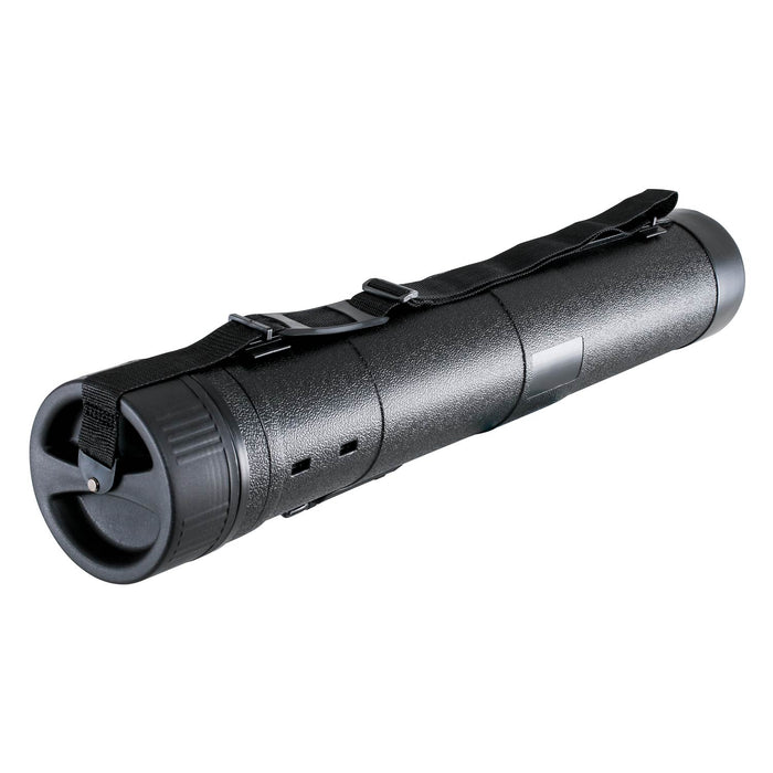 Black Telescoping Drafting Tube - Outside Diameter: 7-1/4 inch, Inside Diameter: 6-5/8 inch, Length: 32 to 52 inches