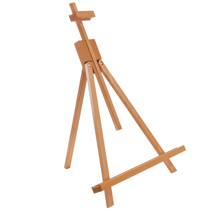 "Topanga 31"" High Tabletop Wood Folding A-Frame Artist Studio Easel - Adjustable Beechwood Tripod Display Stand, Holds Up To 27"" Canvas - Portable Table Desktop Painting Picture Holder"