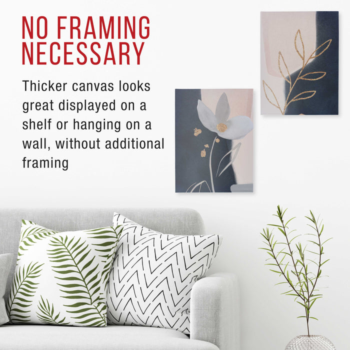 "9"" x 12"" Gallery Depth 1-1/2"" Profile Stretched Canvas 4-Pack - Acrylic Gesso Triple Primed 12-ounce 100% Cotton Acid-Free Back Stapled"