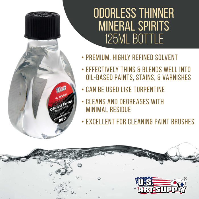 Odorless Mineral Spirits Thinner, 125ml / 4.2 Fluid Ounce Container