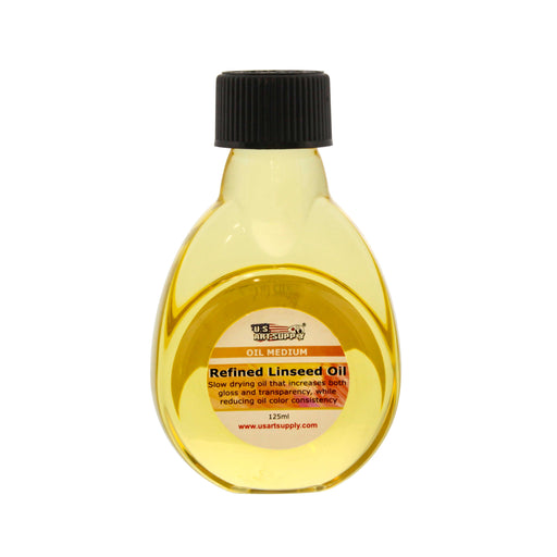 Refined Linseed Oil, 125ml / 4.2 Fluid Ounce Container