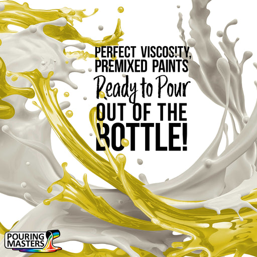 Lemon Yellow Acrylic Ready to Pour Pouring Paint Premium 8-Ounce Pre-Mixed Water-Based - for Canvas, Wood, Paper, Crafts, Tile, Rocks and More