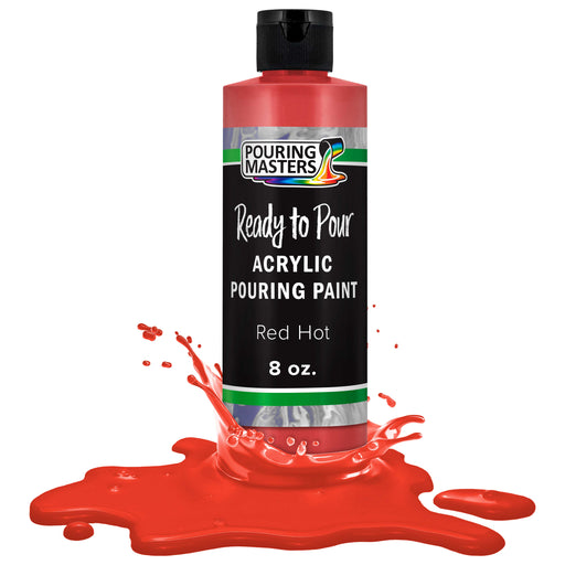 Hot Tamale Red Acrylic Ready to Pour Pouring Paint Premium 8-Ounce Pre-Mixed Water-Based - for Canvas, Wood, Paper, Crafts, Tile, Rocks and More