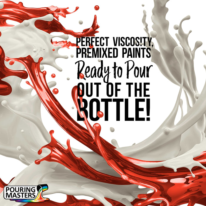 Havana Red Acrylic Ready to Pour Pouring Paint – Premium 8-Ounce Pre-Mixed Water-Based - for Canvas, Wood, Paper, Crafts, Tile, Rocks and More