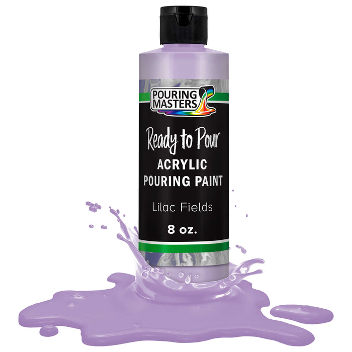 Lilac Fields Acrylic Ready to Pour Pouring Paint – Premium 8-Ounce Pre-Mixed Water-Based - for Canvas, Wood, Paper, Crafts, Tile, Rocks and More