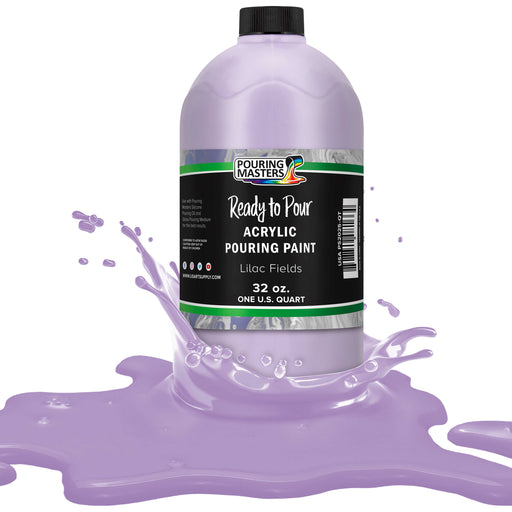 Lilac Fields Acrylic Ready to Pour Pouring Paint Premium 32-Ounce Pre-Mixed Water-Based - for Canvas, Wood, Paper, Crafts, Tile, Rocks and More