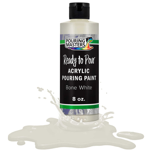 Bone White Acrylic Ready to Pour Pouring Paint Premium 8-Ounce Pre-Mixed Water-Based - for Canvas, Wood, Paper, Crafts, Tile, Rocks and More