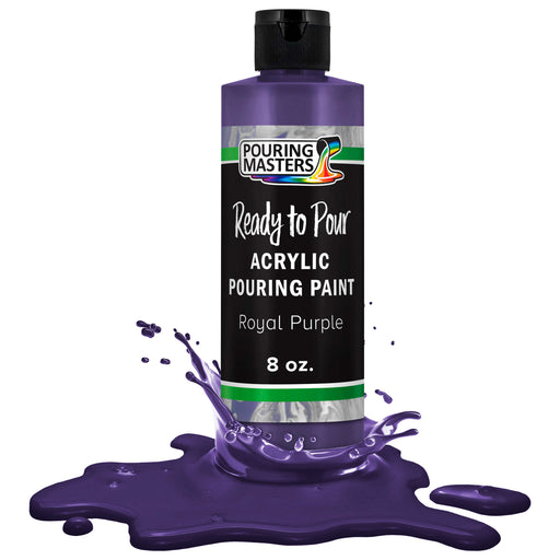 Royal Purple Acrylic Ready to Pour Pouring Paint Premium 8-Ounce Pre-Mixed Water-Based - for Canvas, Wood, Paper, Crafts, Tile, Rocks and More