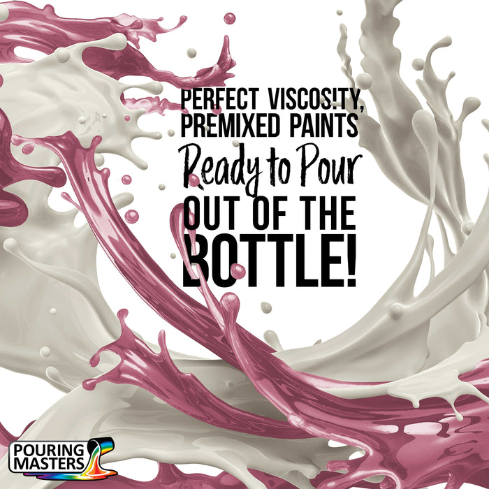 Rose Pink Metallic Pearl Acrylic Ready to Pour Pouring Paint - Premium 8-Ounce Pre-Mixed Water-Based - For Canvas, Wood, Paper, Crafts, Tile, Rocks and more