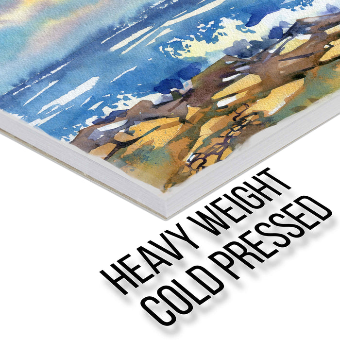"11"" x 14"" Premium Heavy-Weight Watercolor Painting Paper Pad, 140 Pound (300gsm), Pad of 12-Sheets (Pack of 2 Pads)"
