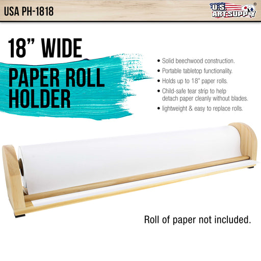 18 inch Wooden Tabletop Paper Holder & Dispenser