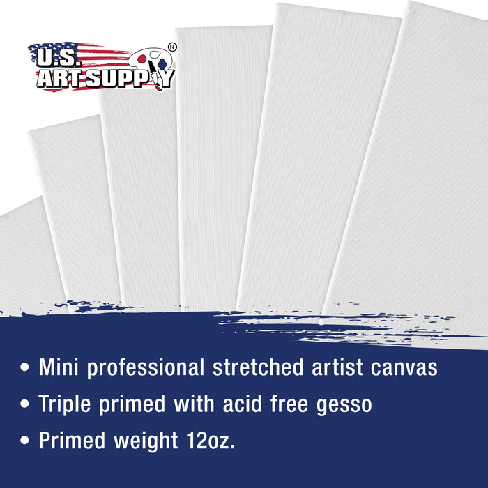"2"" x 3"" Mini Professional Primed Stretched Canvas 12 Pack"