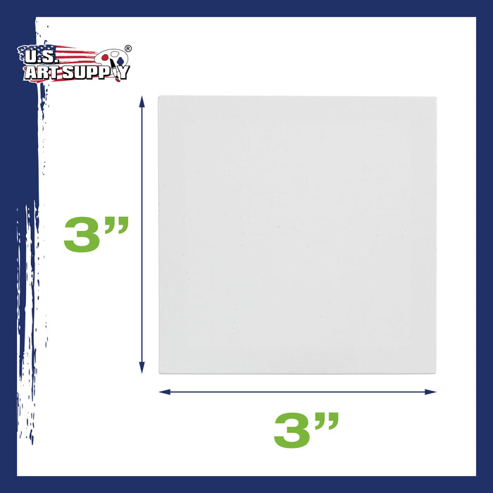 "3"" x 3"" Mini Professional Primed Stretched Canvas - 24 Pack"