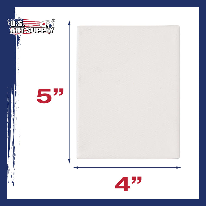 "4"" x 5"" Professional Quality Acid Free Stretched Canvas 6-Pack - 3/4 Profile 12 Ounce Primed Gesso"