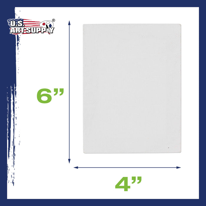 "4"" x 6"" Mini Professional Primed Stretched Canvas 12 Pack"