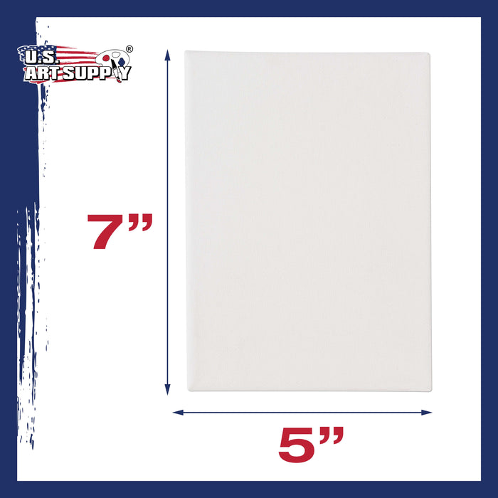"5"" x 7"" Professional Quality Acid Free Stretched Canvas 6-Pack - 3/4 Profile 12 Ounce Primed Gesso"