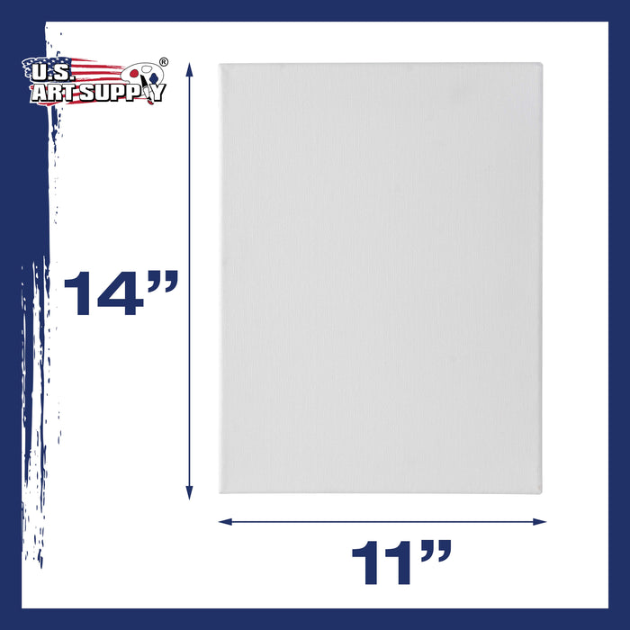 "11"" x 14"" Super Value Quality Acid Free Stretched Canvas 7-Pack - 3/4 Profile Primed Gesso"