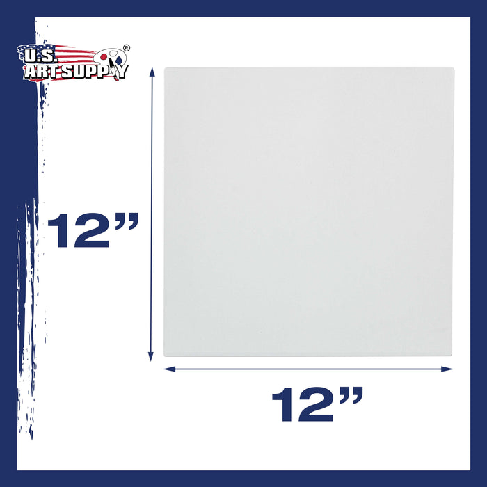 "12"" x 12"" Super Value Quality Acid Free Stretched Canvas 7-Pack - 3/4 Profile Primed Gesso"