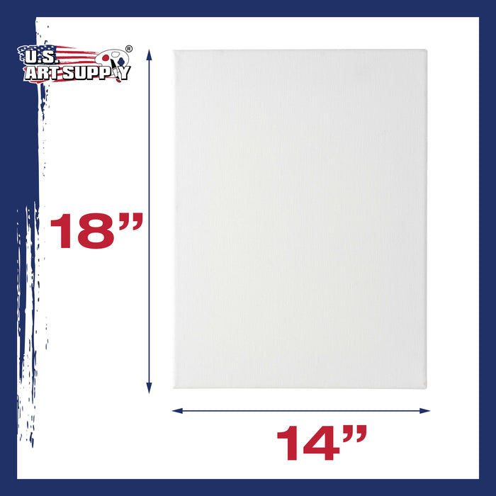 "14"" x 18"" Professional Quality Acid Free Stretched Canvas 6-Pack - 3/4 Profile 12 Ounce Primed Gesso"