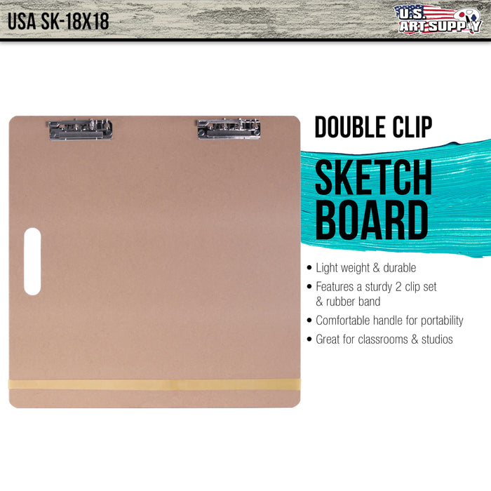 "Artist Sketch Tote Board - Great for Classroom, Studio or Field Use (18""x18"")"