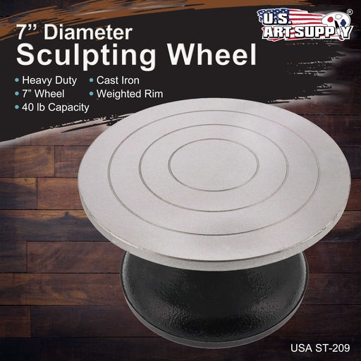 "7"" Diameter Sculpting Wheel- Heavy Duty All Metal Construction & Turntable with Ball Bearings"