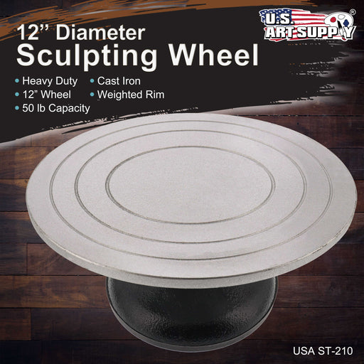 "12"" Diameter Sculpting Wheel- Heavy Duty All Metal Construction & Turntable with Ball Bearings"