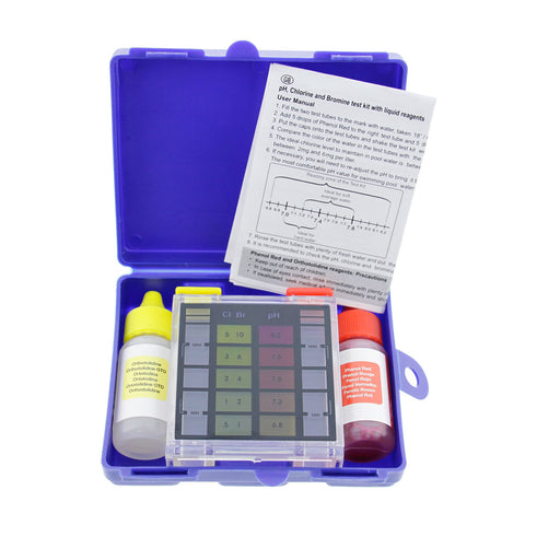 Standard 3-Way Swimming Pool & Spa Test Kit, Tests Water for pH, Chlorine and Bromine