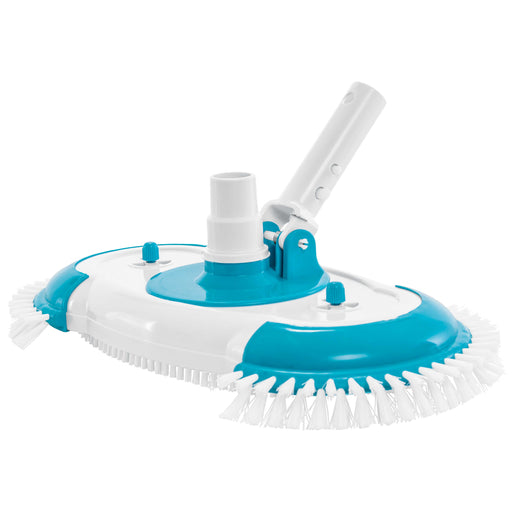 "16"" Weighted Pool Vacuum Head with Nylon Side Bristles, Swivel Hose Connection, EZ Clip Handle - Connect 1-1/4"", 1-1/2"" Hose - Scrub Clean, Remove Debris - Safe for Vinyl Lined Pools"
