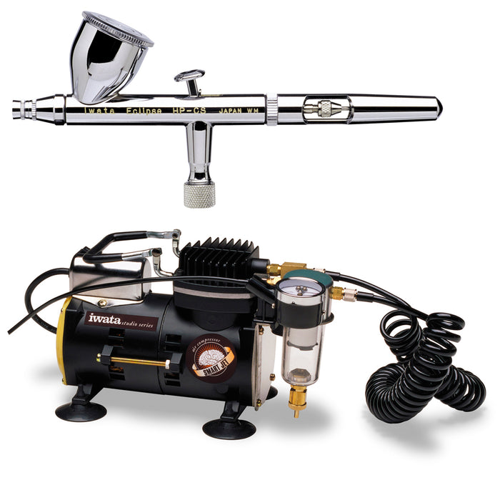 Eclipse HP-CS 4207 Airbrush Kit with Iwata Smart Jet Compressor & Air Hose