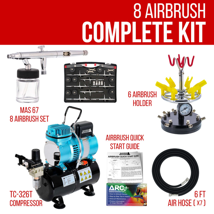 Master Studio Series S67 Airbrush Kit with Master Compressor TC-20T & Air Hose