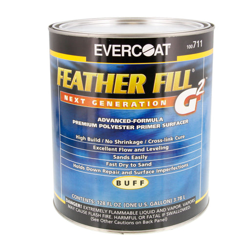 Buff - Feather Fill G2 Next Generation Premium Polyester Primer Surfacer, 1 Gallon